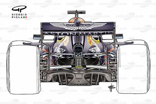 Red Bull: viene riprovato il mono-pilone dell'ala posteriore