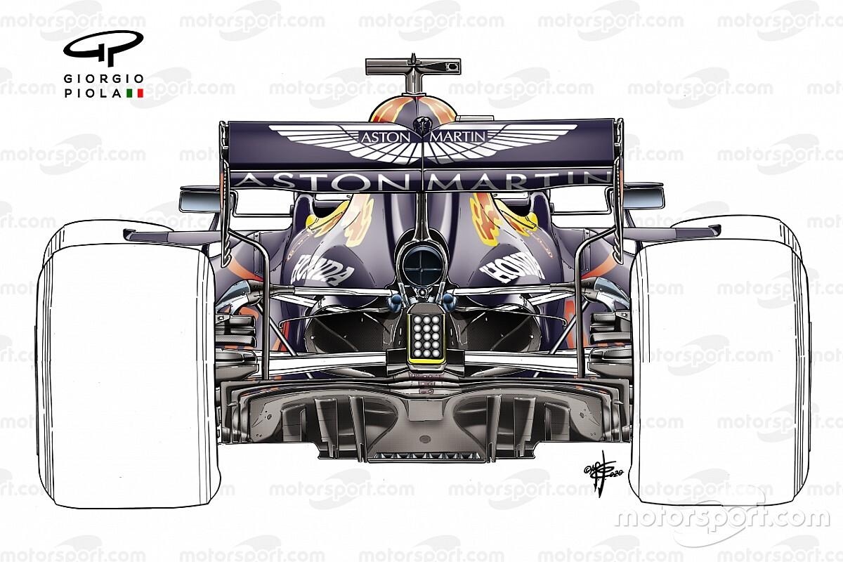Технический брифинг: заднее крыло Red Bull RB16