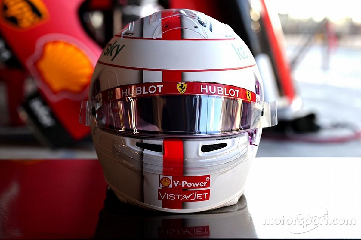 Leclerc presta homenagem a última corrida de Vettel na Ferrari com pintura especial em capacete