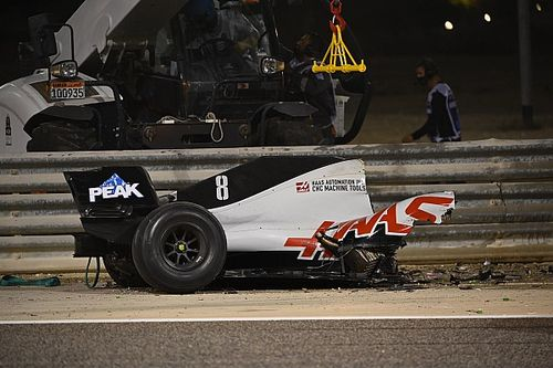 F1, incidente di Grosjean: il fotoracconto