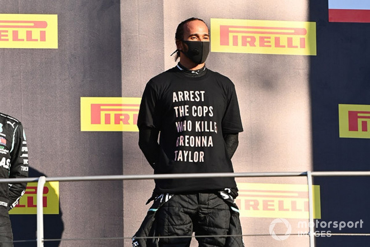 FIA looking into Hamilton's anti-racism T-shirt at Mugello