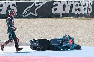 Quartararo y sus dos accidentes en Misano: demasiados errores