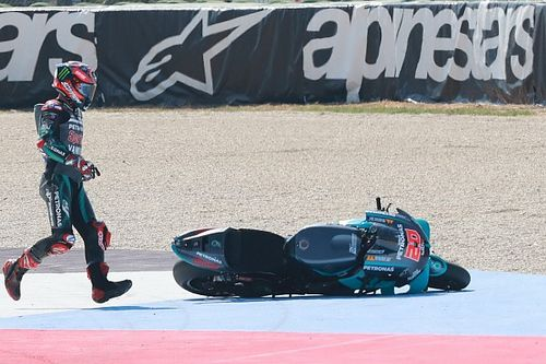 Quartararo takes the blame for multiple Misano crashes