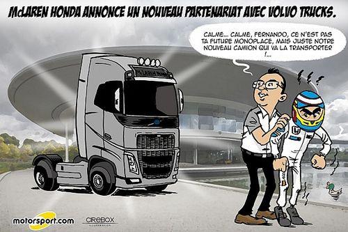 Le changement de camions de McLaren vu par Cirebox!