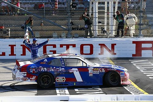 """Sadler wins Xfinity race at Darlington: """"This is for Dale Jr."""""""