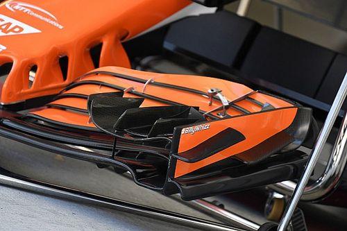 McLaren: un adesivo sulla bandella per promuove la raccolta per Monger