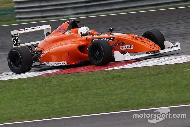 Sepang F4: Gowda claims double top five finish on Saturday