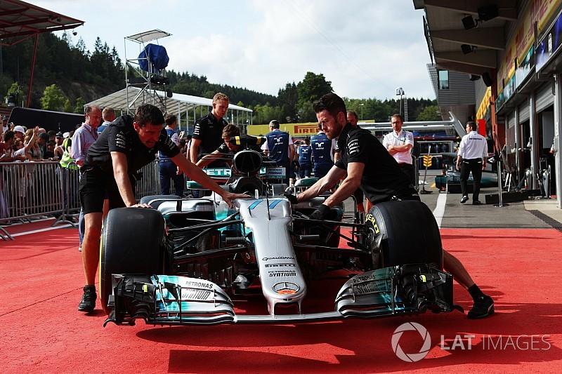 Mercedes utilise un moteur évolué à Spa