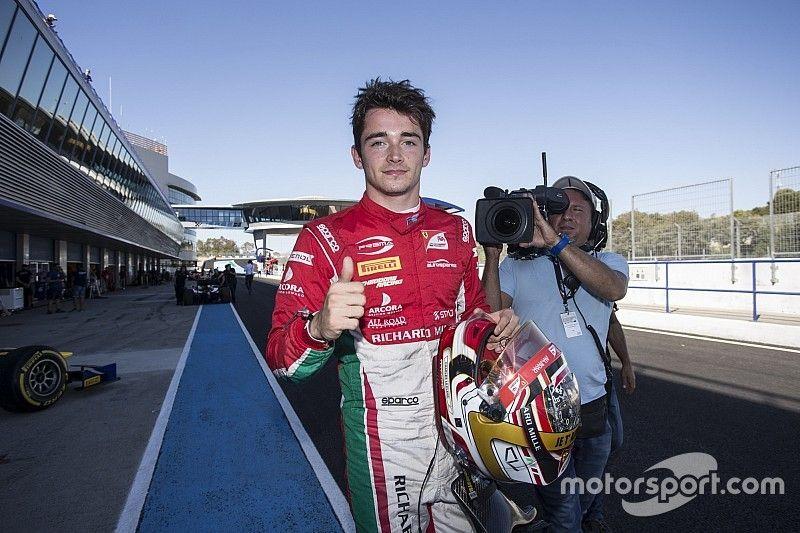 Victoria y campeonato para Charles Leclerc en la Fórmula 2