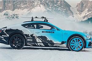 Una Bentley Continental GT da corsa, ma sul ghiaccio