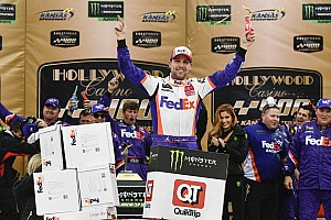 Hamlin wins, Elliott advances in double overtime at Kansas