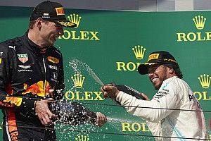 """Hamilton: Le tacle de Verstappen sur Rosberg à """"mourir de rire"""""""