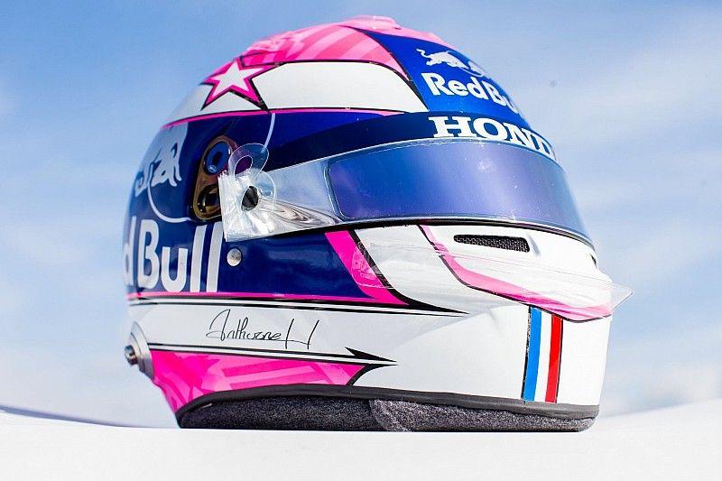 Gasly revela casco tributo a Hubert en Monza