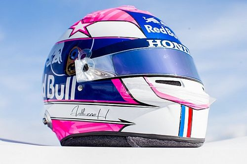 Gasly unveils Hubert tribute helmet at Monza