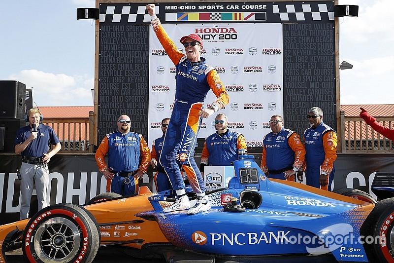 Mid-Ohio IndyCar: Dixon beats charging Rosenqvist, Newgarden spins