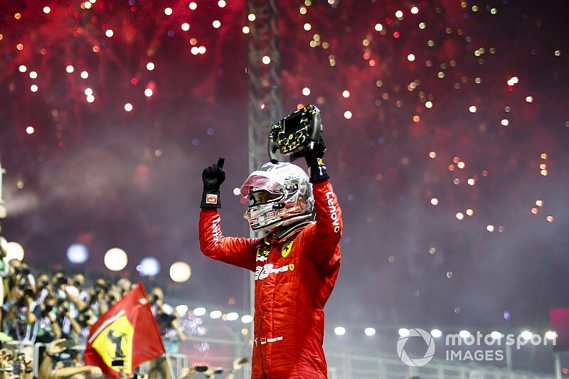 Singapore GP: Vettel beats Leclerc to end victory drought