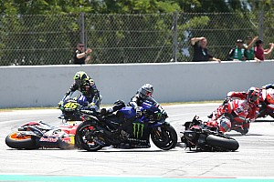 "Lorenzo admits he rode ""too excited"" before four-bike crash"