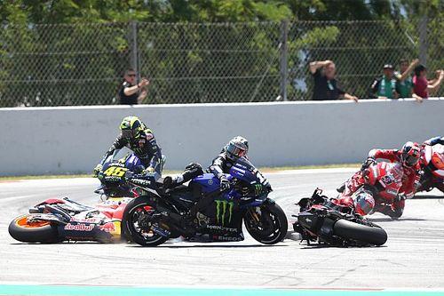 "Lorenzo admits he rode ""too excited"" before four-bike crash"