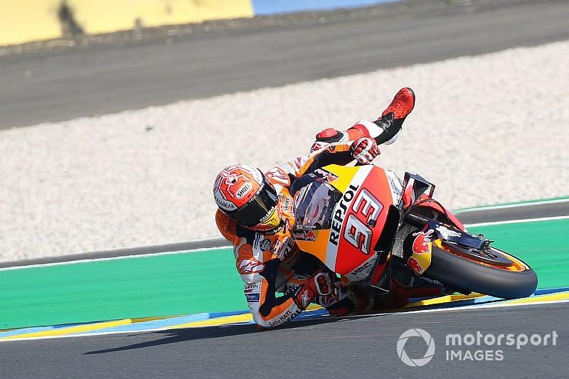"""""""Großer Save"""": Marquez rettet in Le Mans einen Sturz mit Knie und Ellbogen"""