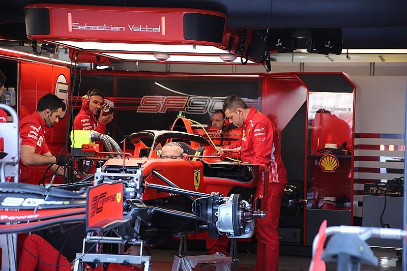 На обеих Ferrari поменяли турбины, Квяту поставили новые батарею и блок управления двигателем