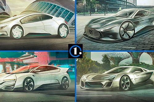 ¡Así podrían ser seis coches actuales en 2050!