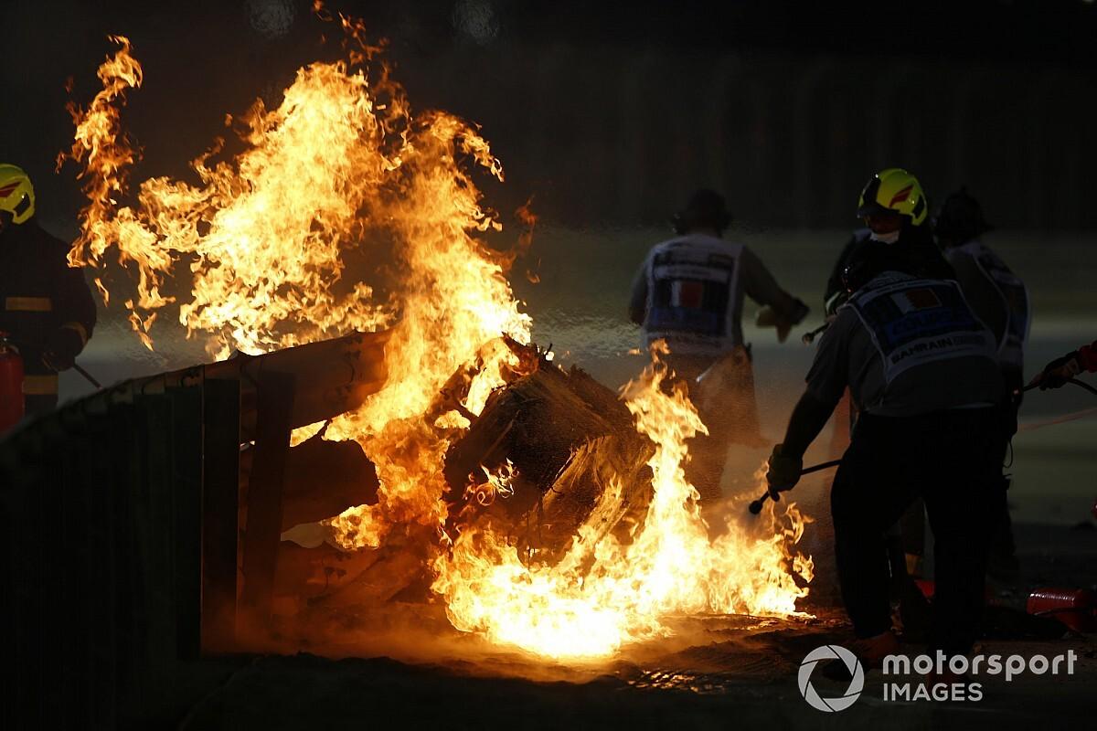 "Grosjean revive el accidente: ""Vi venir la muerte, salí por mis hijos"""