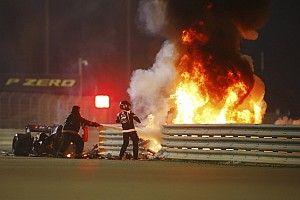 "Grosjean ""lucky by being unlucky"" in horror Bahrain GP crash"