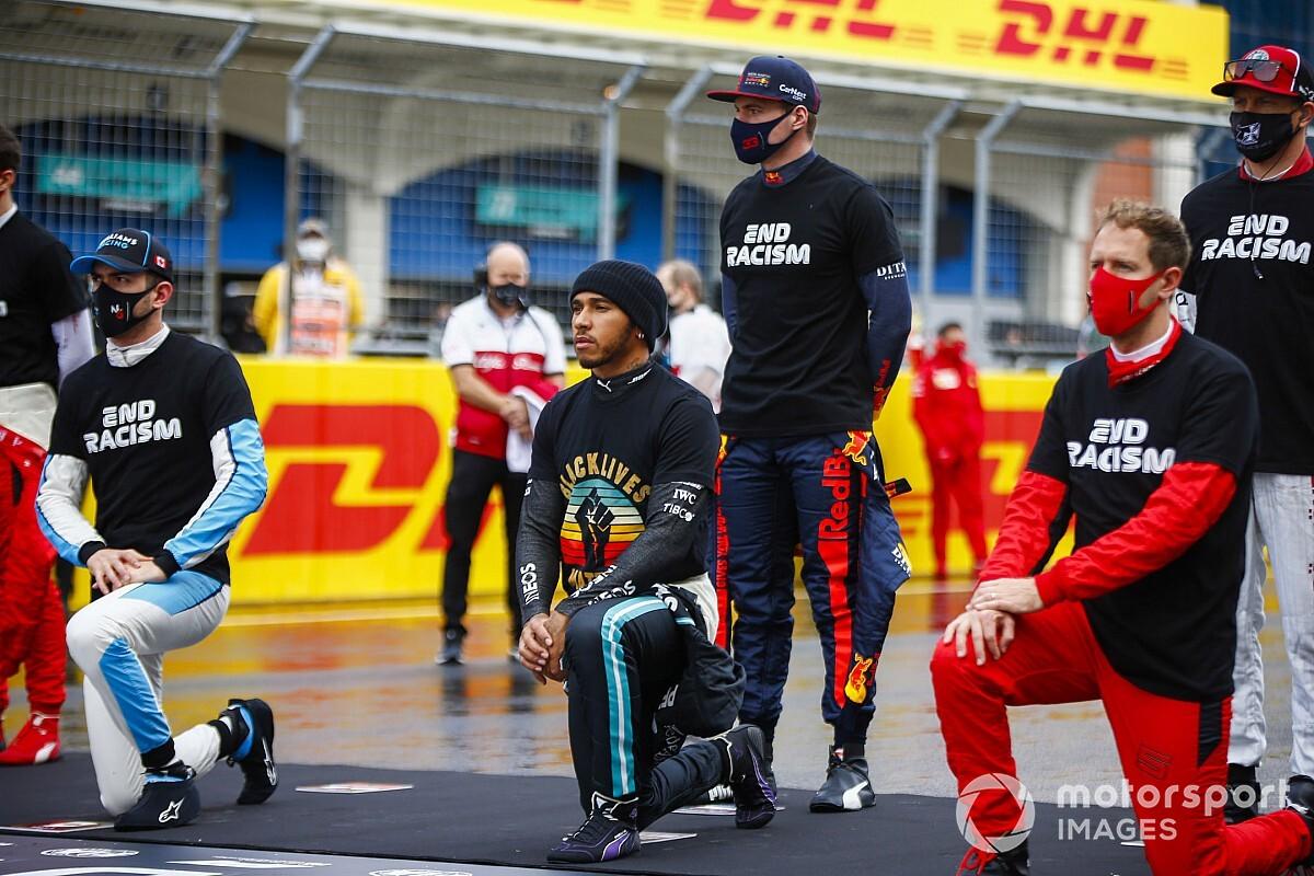 La F1 toglie l'acrobaleno dalla campagna We Race As One dal 2021