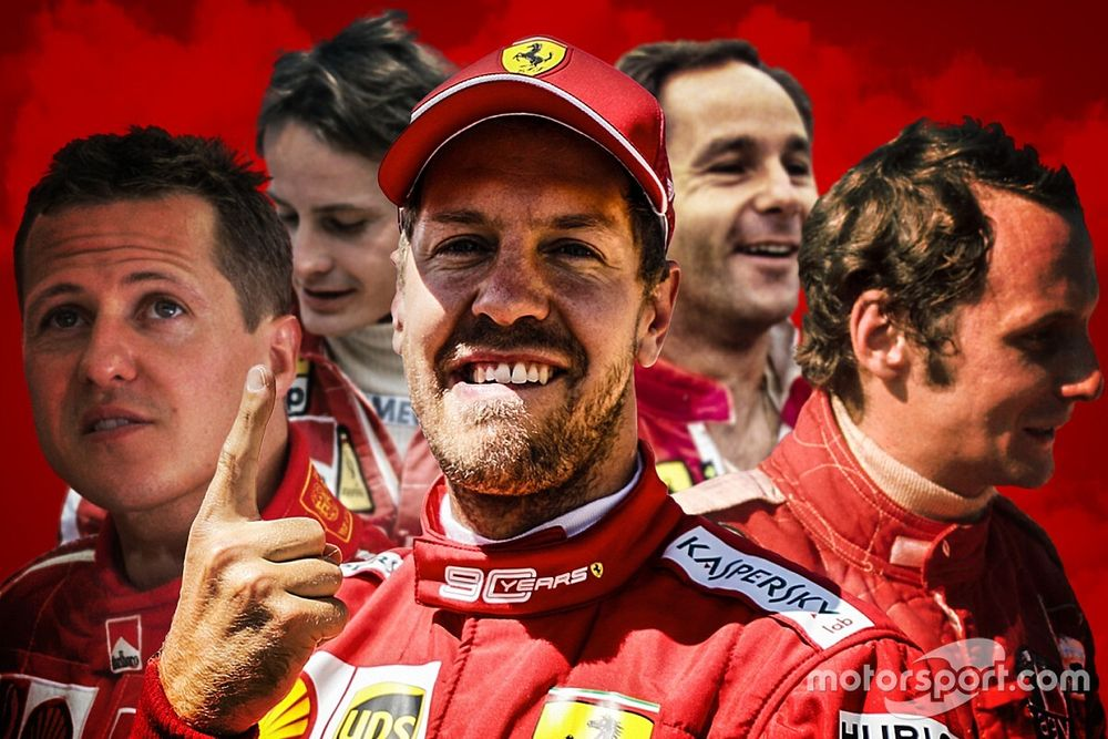 Colocando em números: onde Vettel se posiciona na história da Ferrari na F1?