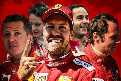 Los números de Vettel en Ferrari: ¿en qué lugar queda?
