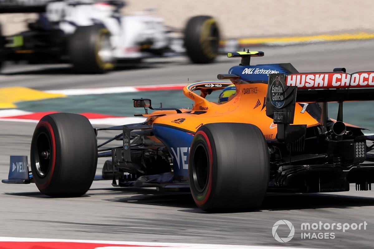 """Norris na tiende plaats in Spanje: """"nam niet voldoende risico"""""""