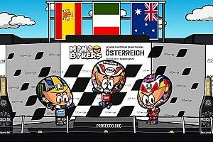 Vídeo: el 'salvaje' GP de Austria de MotoGP según MiniBikers