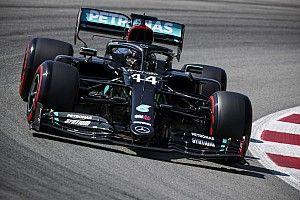 Hamilton topt afsluitende training, merkwaardige crash Ocon
