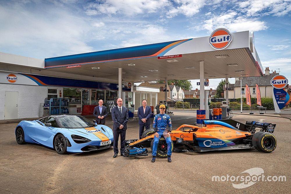 McLaren officialise son nouveau partenariat avec Gulf