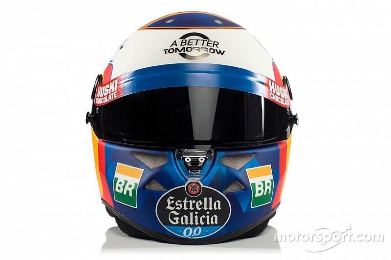 Photos - Le casque de Carlos Sainz pour la saison 2019