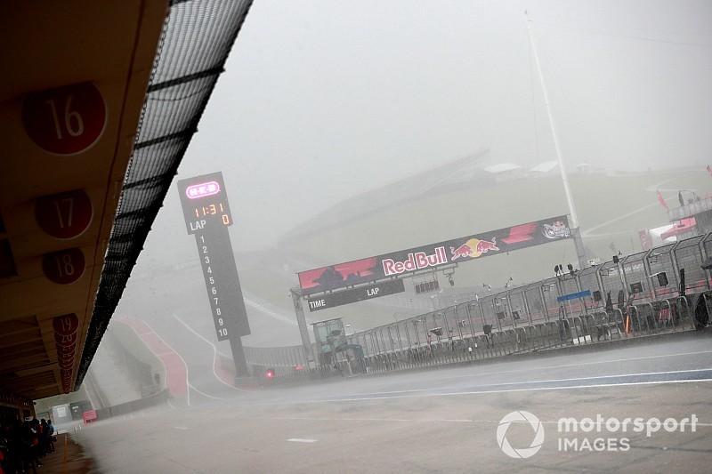 La lluvia y la falta de luz obligan a cancelar la práctica 3 en Austin