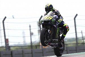 """Rossi: """"Contento del terzo tempo, ma manca mezzo secondo per stare con Marquez e Vinales"""""""
