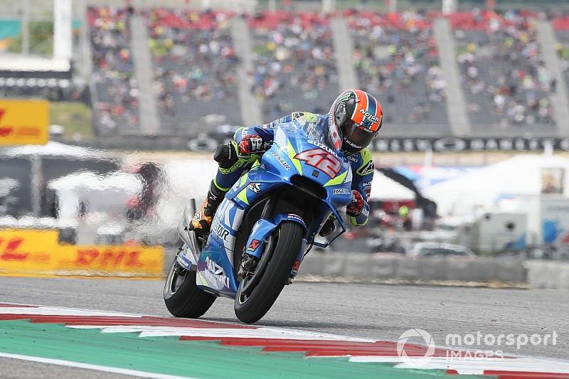 MotoGPアメリカズGP決勝:マルケス、首位走行中にまさかの転倒リタイア。スズキのリンスが初優勝!