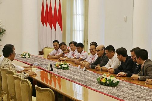 Temui Jokowi, Dorna bahas MotoGP Mandalika