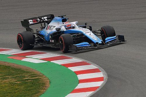 GALERÍA: el Williams FW42 por fin salió a la pista en Barcelona