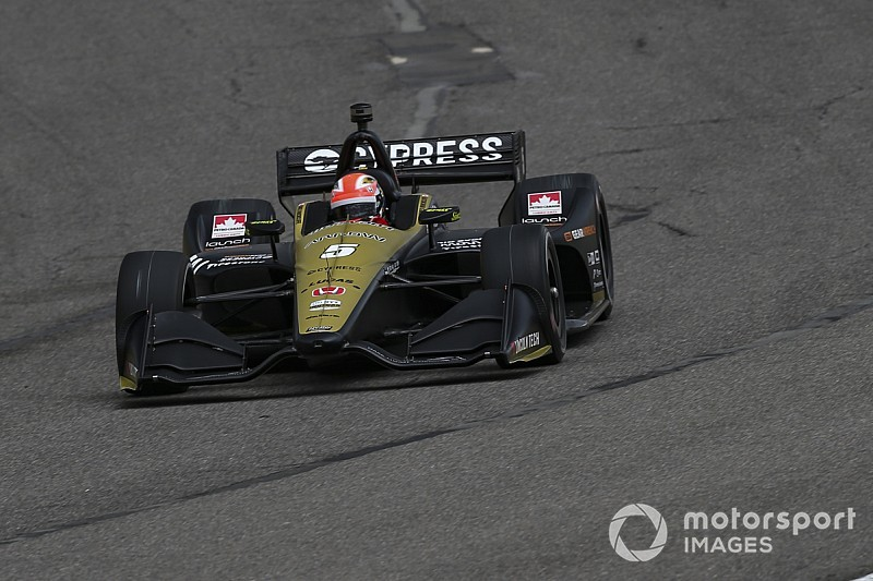 Barber IndyCar: Hinchcliffe leads Herta in second practice