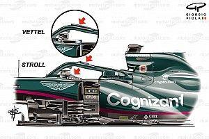 Aston Martin: l'Halo senza soffiaggio nel diadema, ma con micro flap