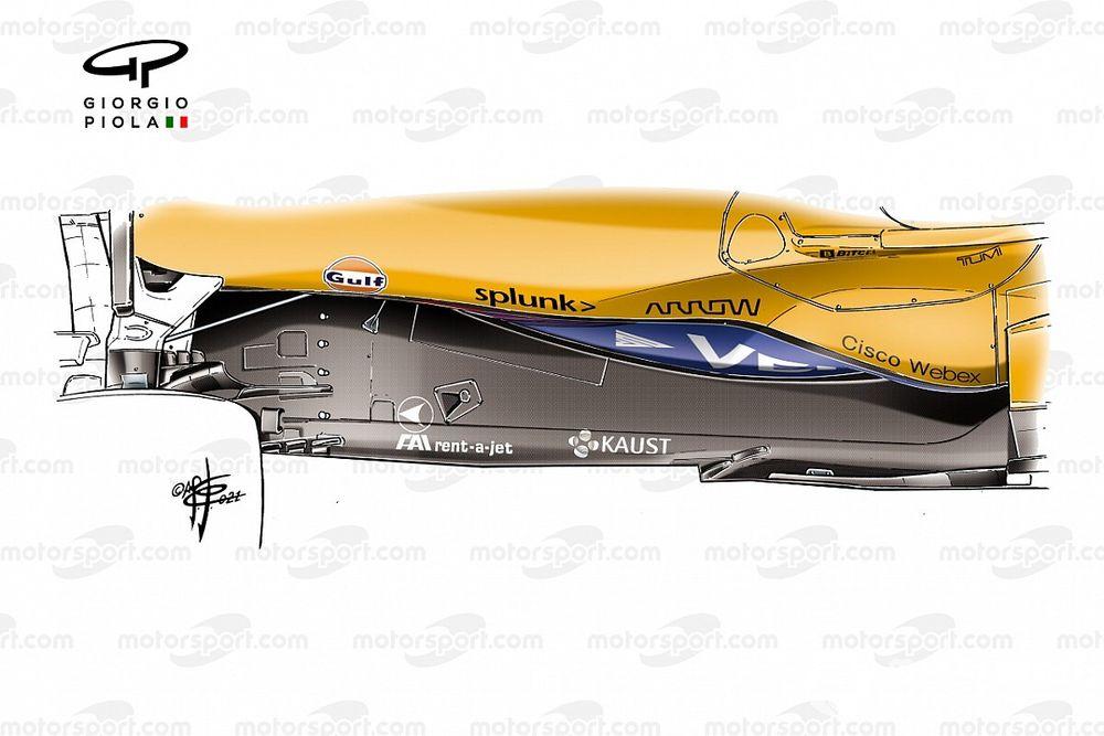 Por qué McLaren se apunta a la moda del fondo en Z de la F1 2021