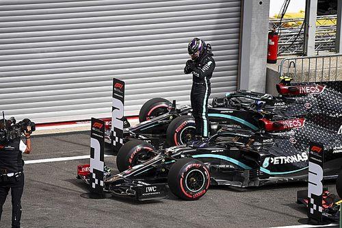 """Hamilton gigante a Spa anche con una Mercedes da """"bagnato"""""""