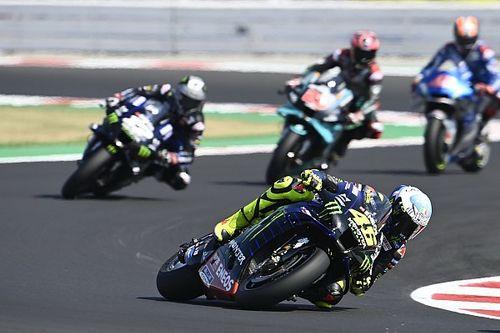 Rossi dolido por haber perdido el podio en Misano