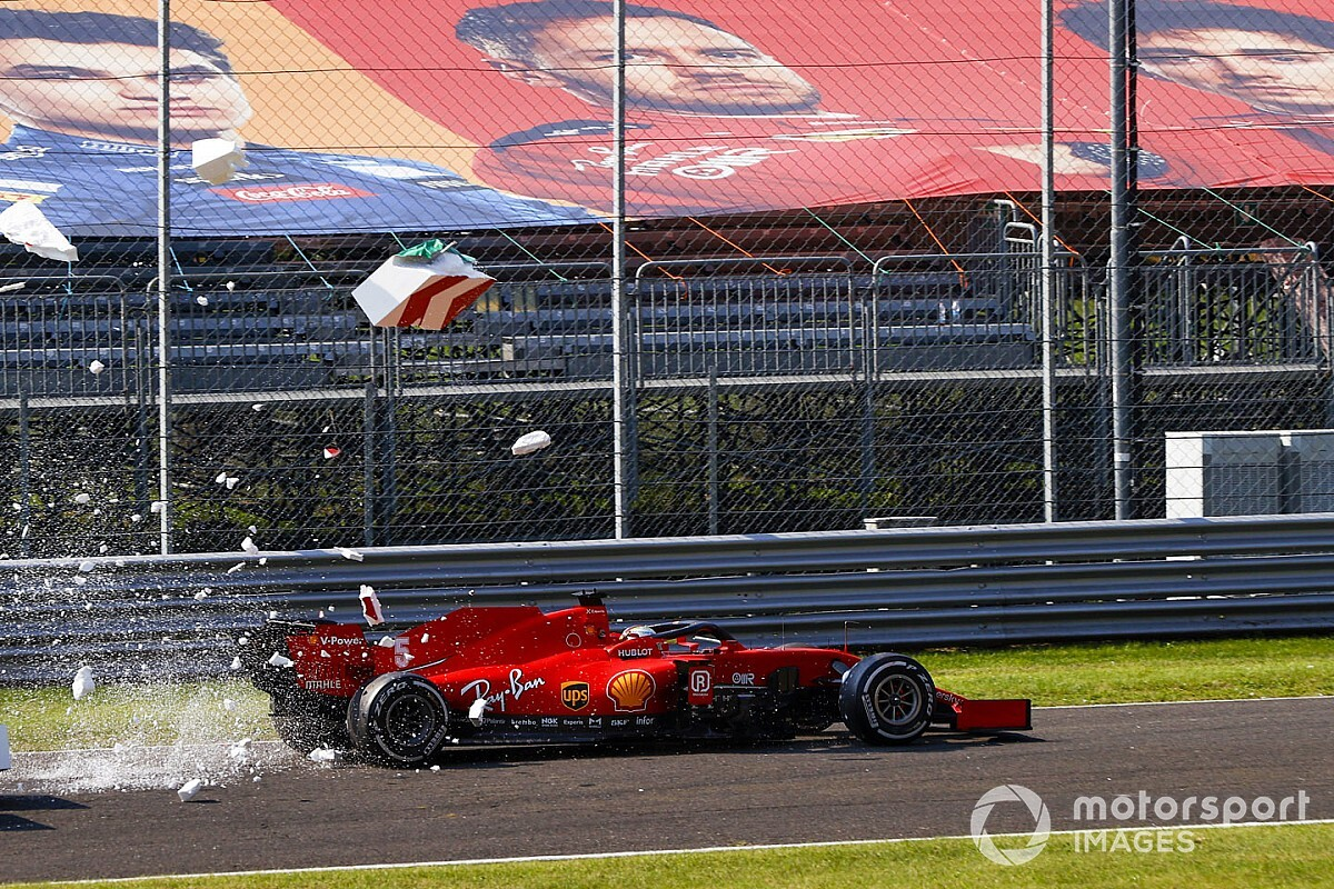 Vettel 'agradece' dónde fallaron sus frenos... y que no hubiera tifosi