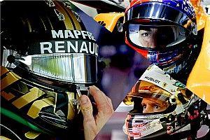 GALERI: Helm spesial para pembalap F1 2018