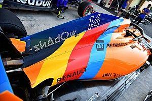 """Egészen közelről Alonso """"búcsúfestése"""" Abu Dhabiból"""
