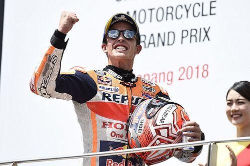 Падение Росси позволило Маркесу выиграть Гран При Малайзии