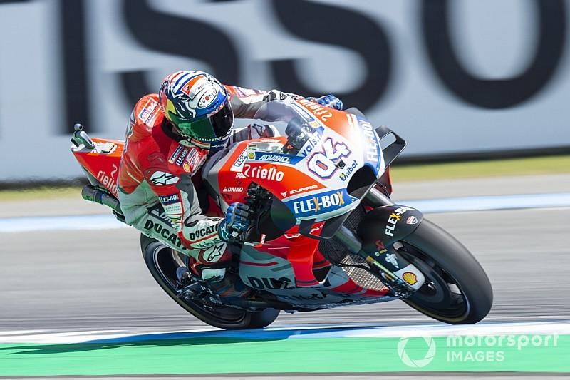MotoGP, Motegi, Libere 1: Dovizioso al top, Lorenzo non ce la fa